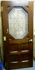 Exterior / Interior Solid Wood Door W/ Bevel & Textured Glass # 43 Bargain Deal