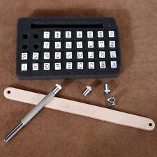 Leather Stamp Alphabet Letter Number Metal Punch Set Logo Stamp Craft Tool Kit