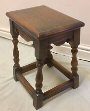 Antique Style SOLID Oak Joint Stool / Occasional Table / Lamp Stand c1920 (62)