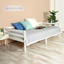 EGGREE 3FT Lit Banquette en Bois Canapé lit Simple pour les adolescents Blanc