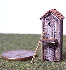 Two Level Outhouse Z Scale Model Railroad Structure Unptd Wood Laser Kit Rsl4007