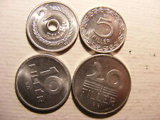 HUNGARY 7 DIFFERENT CHOICE BU COINS FROM THE 1950's