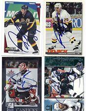 Donald Brashear Signed / Autographed Hockey Card Vancouver Canucks 1998 Omega