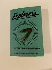 Knife Enamel Pin Explorer's Press Pocket