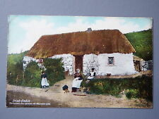 R&L Postcard: Ireland Irish Cabin Thatched Cottage, Lawrence