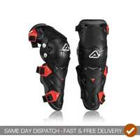 Acerbis Adults Impact Evo 3.0 Hinged Motocross Enduro Knee Guards - Black/ Red