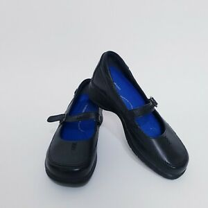 Colorado Womens Size 8.5 Black Leather Casual Slip On Maryjane Shoes