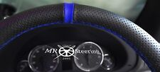 FOR 03+ MERCEDES VITO 2 W639 PERFORATED LEATHER STEERING WHEEL COVER+ BLUE STRAP