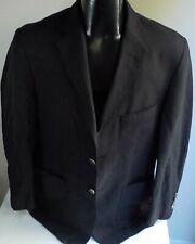 BULLOCK & JONES Silk Blend Black 2 Button Blazer SZ M/40