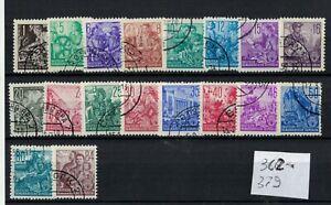 DDR -Germania Est 1953  serie completa Mi.n° 362 al 379