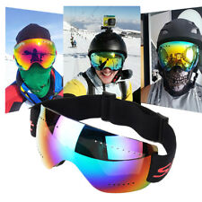 Anti-fog UV Skiing Snowboard Adult Goggles Ski Sunglasses Snow Mirror Glasses