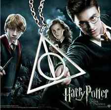 Silver Harry Potter Deathly Hallows Charm Pendant Chain Necklace Jewellery Gift