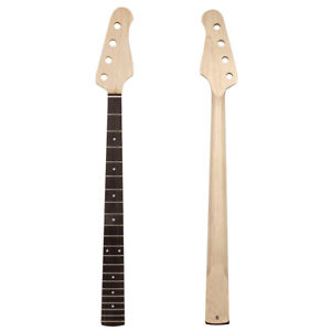 Jazz Bass Guitar Neck for 4 String JB Parts Replacement Right Handed 21 Frets