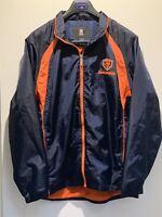 New Reebok Chicago Bears NFL Football Soft Shell Full Zip Vented Jacket Mens L