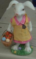 Greenbrier Resin Figurine - Easter Egg Basket - VGC - GREAT BUNNY FIGURINE
