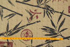 BAMBOO THEME PRINT POLY COTTON FABRIC, 60 inches wide. Sold as 1-yard pieces.
