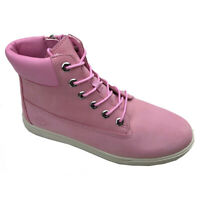 Timberland Junior Groveton 6IN Lace Pink Suede Leather Boots UK3.5 up to UK6.5
