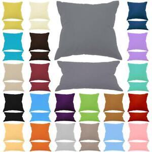 Kissenbezug 100% Baumwolle mit Reißverschluss Mega Farb & Größen Auswahl Hüllen
