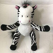 "Baby Boom Black White Striped Zebra Plush Soft Toy Stuffed 2013 10"""