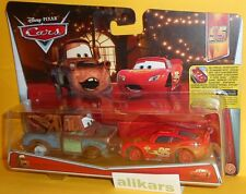 MATER & LIGHTNING MCQUEEN with NO TIRES - Mattel Disney Cars 1:55 Metal Diecast