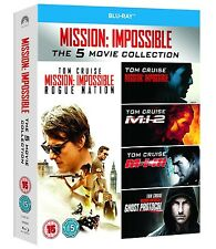 MISSION IMPOSSIBLE 1-5 BLU RAY BOXSET ALL REGIONS 5 DISCS TOM CRUISE 1 2 3 4 5