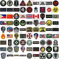 LIVABIT Tactical 3D PVC Morale Patch Badge Hook Airsoft Paintball 90+ Options