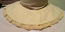 Civil War Dress Victorian Accessories Lady'S 100% Cotton Ivory Lace~Ivory Collar