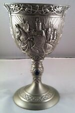 Pewter Cup King Arther 7 inches tall 4.5 inches dia Weight 1lbs 8.6 oz