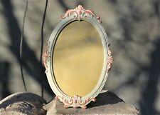 Vintage Italian,White,Metal Frame Oval Standing Photo frame Adjustable Table Pic