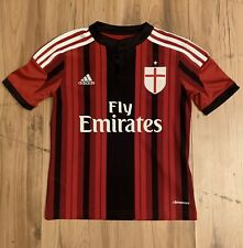 Vintage Adidas AC Milan Soccer Blank Jersey Youth Small Red Black