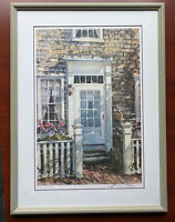 William Welch Signed Framed Lithograph Impressionism Art Nantucket Door Key West