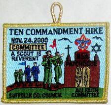Suffolk Co Cncl (NY) 2000 Ten Commandments Hike COMMITTEE Pkt Patch  BSA  Error