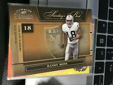 Randy Moss 2006 Donruss Classics Sunday's Best Silver #31 raiders #215/250! kxv2