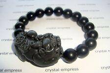 Feng Shui - Black Obsidian Pi Yao Bracelet (10mm beads)