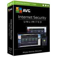 AVG INTERNET SECURITY UNLIMITED 2017 - UNLIMITED DEVICES - 1 YEAR - 40% OFF!