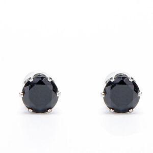 1Pair Stylish Unisex Mens Women Clear/Black Crystal Magnet Earrings Stud Jewelr)
