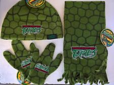 ~ TMNT Ninja Turtles - BEANIE BOYS KIDS HAT, SCARF & GLOVE SET Clothes Costume