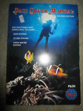 Vtg Padi Open Water Diver course Manual with plastic dive tables card, 1984