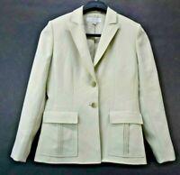 Tahari Arthur S Levine Women's Size 6 2-Button Blazer Sport Coat Jacket Green