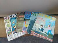ST WORLD Magazine,  Lot of 6 1989 1990, ATARI ST Articles, Vintage Video Games