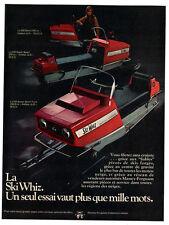 1970 SKIWHIZ 500 Super Sport Snowmobile Vintage Original Print AD - Massey photo