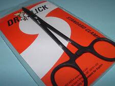 Dr Slick 6 inch Black Clamps Straight Hemostats Forceps Pliers Fly Fishing C6B