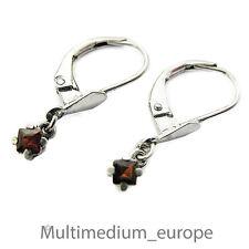 Silber Ohrringe Granat rot silver earrings garnet 800 red