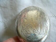 ancienne tabatiére ou boite argent massif decor romantique (le printemps) 83 gr