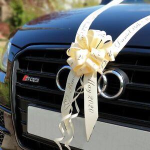 ROSE GOLD PERSONALISED WEDDING CAR RIBBON - 6m Printed Car Ribbon Prom Wedding