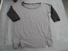 Langarm Shirt grau mit schwarz Gr. 36/38