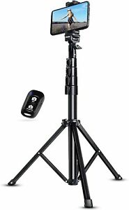 UBeesize 51 inch Extendable Tripod Stand with Bluetooth Remote - Black