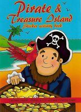 Pirata Pegatina Mini Libro de Actividades A6 Fiesta Bolsas Niños Nuevo