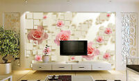 3D Rose Fig Platz Fototapeten Wandbild Fototapete Bild Tapete Familie KinderS