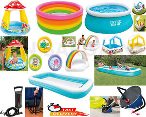 Intex Inflatable Kids Children Family Fun Paddling Swimming Pool Garden Play